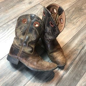 Vintage Distressed Ariat Cowboy Boots Women's 5